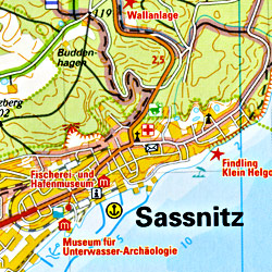 Rugen and Hiddensee Regional Road Map, Germany.