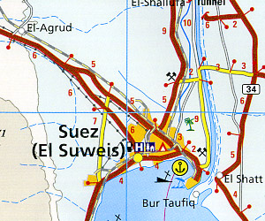 Sinai Road and Topographic Tourist Map.