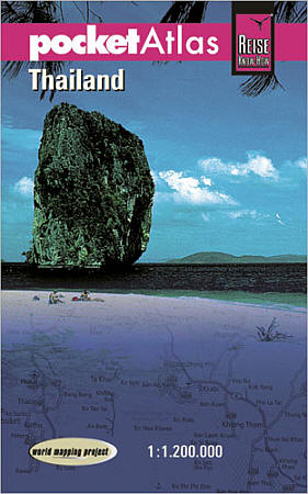 Thailand Road and Topographic Tourist Road ATLAS.