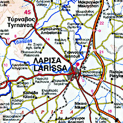 Greece Road and Topographic Tourist Map.