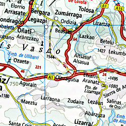 Rough Guide France Road Map, Travel, Tourist, Detailed.