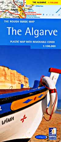 Algarve Region, Road and Shaded Relief Tourist Road Map.