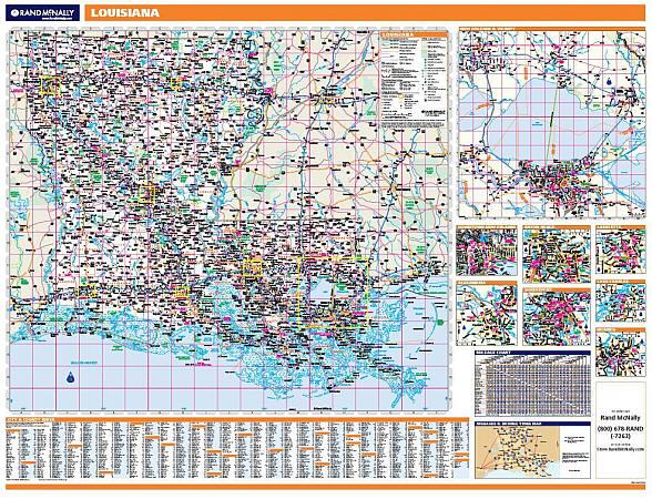 Louisiana WALL Map, America.