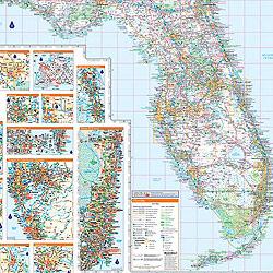 Florida WALL Map, America.
