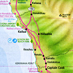 Hawaii Road and Tourist Map, America.
