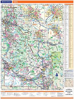 Idaho WALL Map, America.