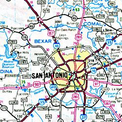 Laredo and Nuevo Laredo, Texas, America.