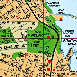 "Monterey and Carmel ""Easy Finder"", California, America."