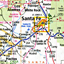 New Mexico Road and Tourist Map, America.
