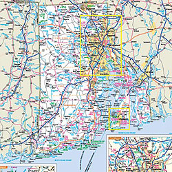 Rhode Island WALL Map, America.
