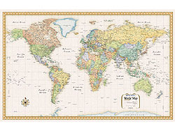 """World """"Classic"""" Edition Political WALL Map."""