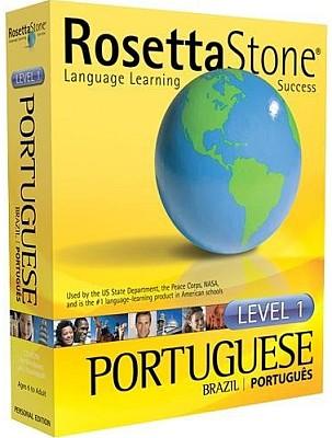 The Rosetta Stone CD ROM Brazilian Portuguese Language Course.