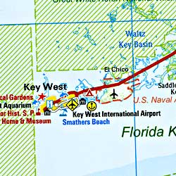 Florida Road and Physical Tourist Road Map.