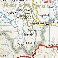Thailand Road and Tourist Map.