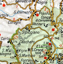 Central Italy, Tourist Road Atlas.