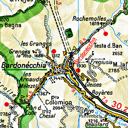 Piedmont and Aosta Regions (Aosta-Torino-Genoa).