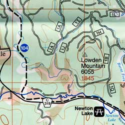 Black Hills, Northeast, Road and Recreation Map, South Dakota, America.