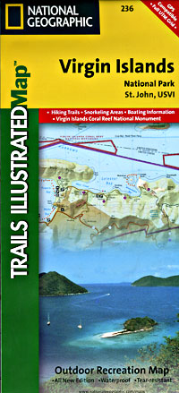 Virgin Islands National Park Road and Recreation Map, St.