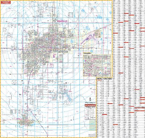 Amarillo WALL Map.