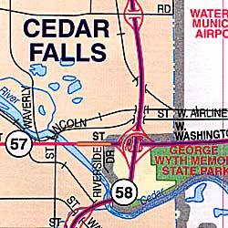 Cedar Falls and Waterloo, Iowa, America.