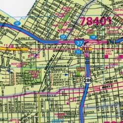 "Corpus Christi ""Flipmap"" Texas, America."