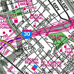 "Dallas ""Flipmap"" Texas, America."