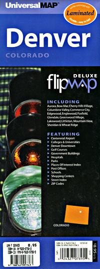 """DENVER """"Flipmap"""" Colorado, America."""