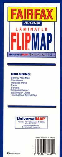 "Fairfax ""Flipmap"", Virginia, America."