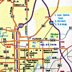 "Florida ""Flipmap"" Road and Tourist map."