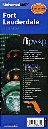 "Fort Lauderdale ""Flipmap"" Florida, America."