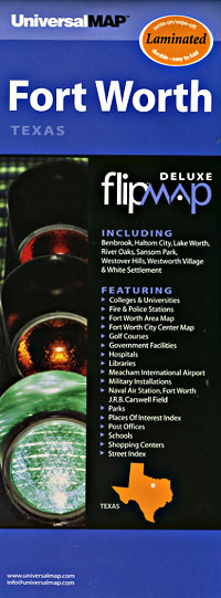 "Ft. Worth ""Flipmap"" Texas, America."