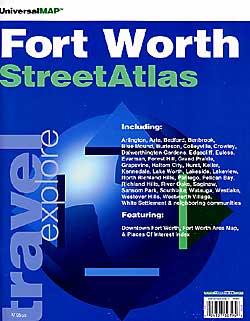 Ft. Worth Street ATLAS, Texas, America.