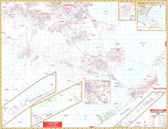 Galveston WALL Map.