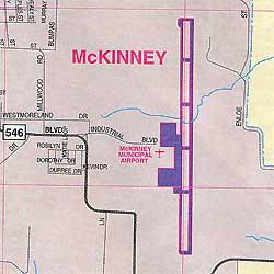 Garland, Richardson, McKinney and Mesquite, Texas, America.