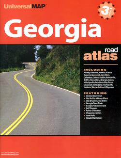 Georgia State, Road and Tourist ATLAS, America.