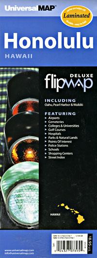 "Honolulu ""Flipmap"" Hawaii, America."