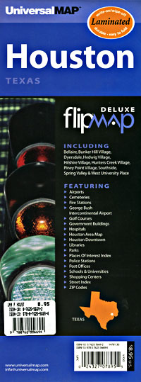 "HOUSTON ""Flipmap"" Texas, America."