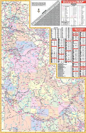 Idaho WALL Map.
