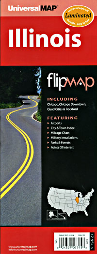 "Illinois ""Flipmap"" Road and Tourist Map, America."