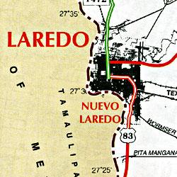Laredo and Webb County, Texas, America.
