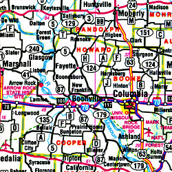 "Missouri ""Flipmap"" Road and Tourist Map, America."