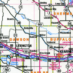 "Nebraska ""Flipmap"" Road and Tourist Map, America."