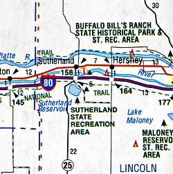 South Dakota, Nebraska and North Dakota, America.