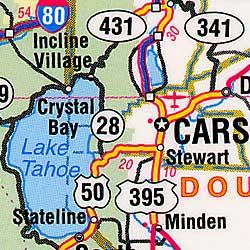 "Nevada ""Flipmap"" Road and Tourist Map, America."