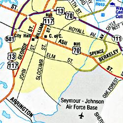 "North Carolina ""Flipmap"" Road and Tourist Map, America."