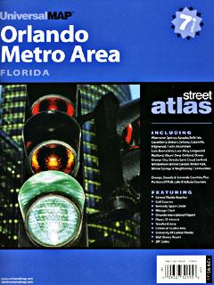 "ORLANDO ""Metro Area"" Street ATLAS, Florida, America."