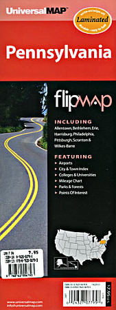 "Pennsylvania ""Flipmap"" Road and Tourist map."