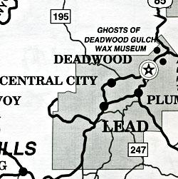 Rapid City and the Black Hills Area, South Dakota, America.