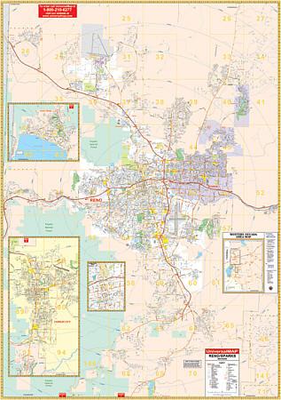 Reno WALL Map, Las Vegas, America.