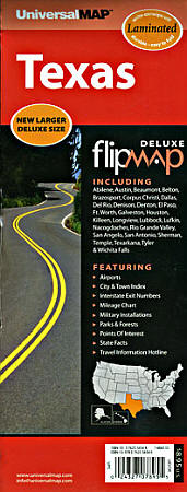 """Texas """"Flipmap"""" Road and Tourist Map, America."""